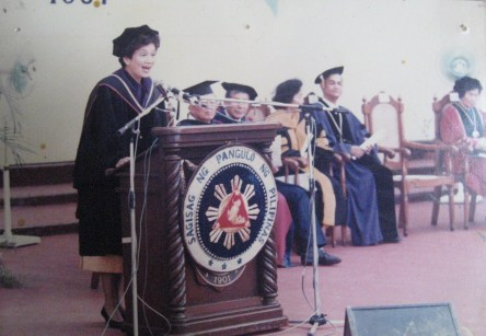 President Cory @ PNC (now PNU) 79th Commencement Exercise